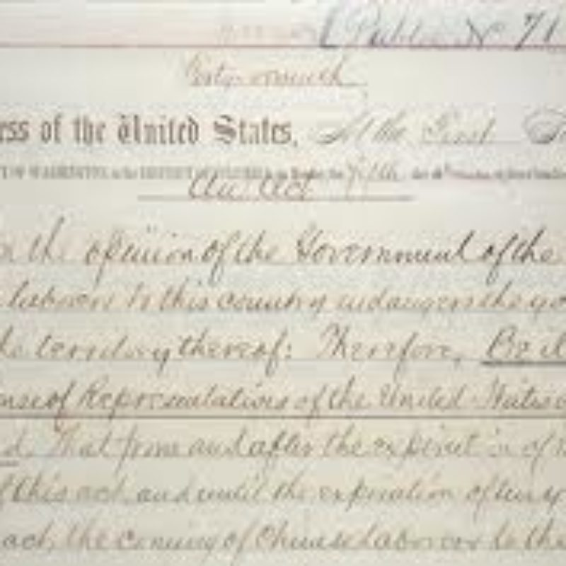Senate Passes Chinese Exclusion Resolution!