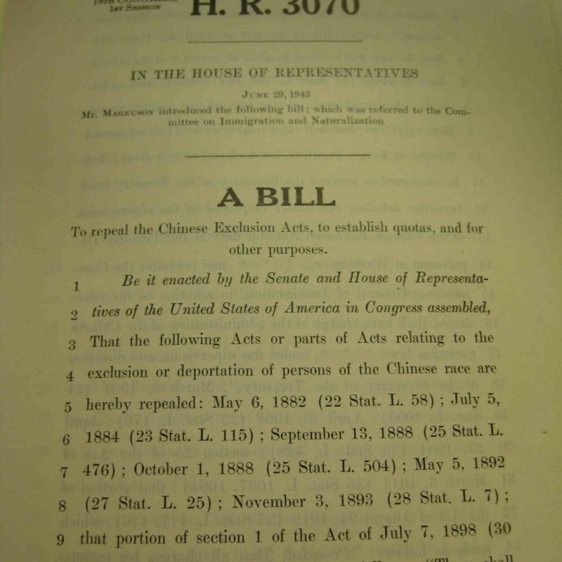 House GOP: We Remember the Repeal of the Chinese Exclusion Laws