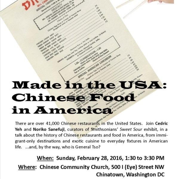 Talk Story — Made in the USA : Chinese Food in America