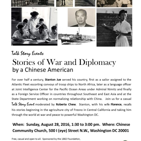 Talk Story Reflection: Stanton Jue and his stories of War and Diplomacy