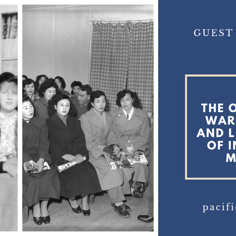 "GUEST BLOG POST: ""The Overview of the War Brides Act and Legalization of Interracial Marriage"" by Jenny Chan from Pacific Atrocities Education"
