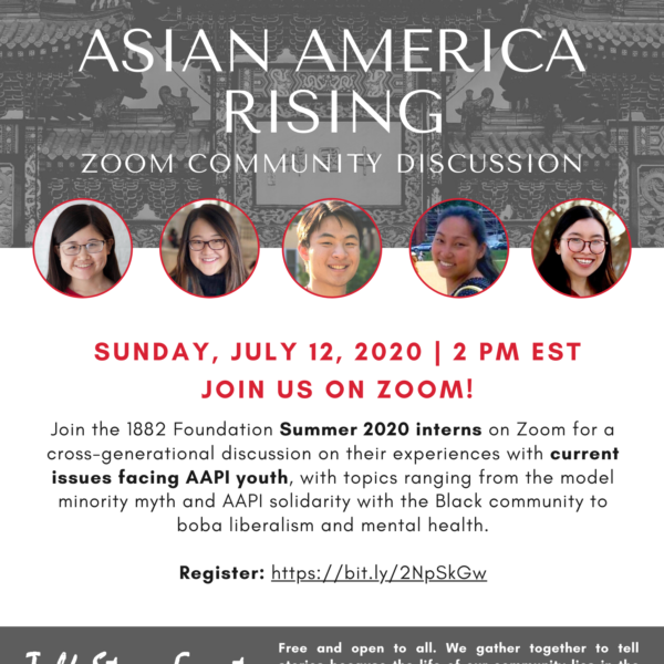 Talk Story Review: Asian America Rising with 1882 Summer 2020 Interns