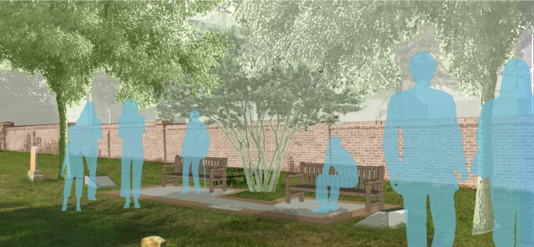 The proposed memorial design. (image credit: Jenn Low, PLA)